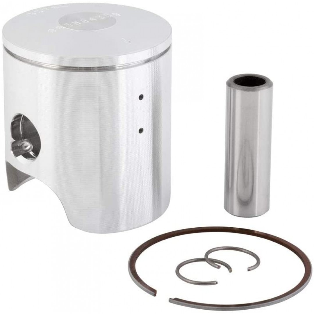 Wiseco Forged Piston Kit 885M04350 for Yamaha YZ65 2018 2019 2020 2021 2022. Diameter: 43.5mm, P/N: 885M, 885M04350. Kit includes piston rings, pin and circlips.
