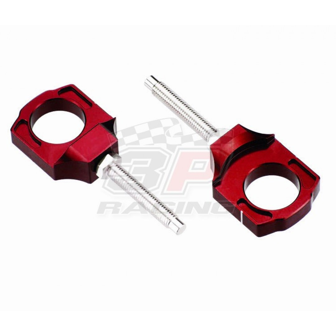 Accel CNC Dirt bike Red chain tensioners - adjusters axle blocks Lollipop type Red AC-AB-10-RED Kawasaki KX 125, KX 250, KXF 250, KXF 450, KLX 450R, Suzuki RMZ 250, RMZ 450, RMX 450Z. for Kawasaki KX125 KX250 KX250F KXF250 KX450F KXF450 KLX450 KLX450R ,Su