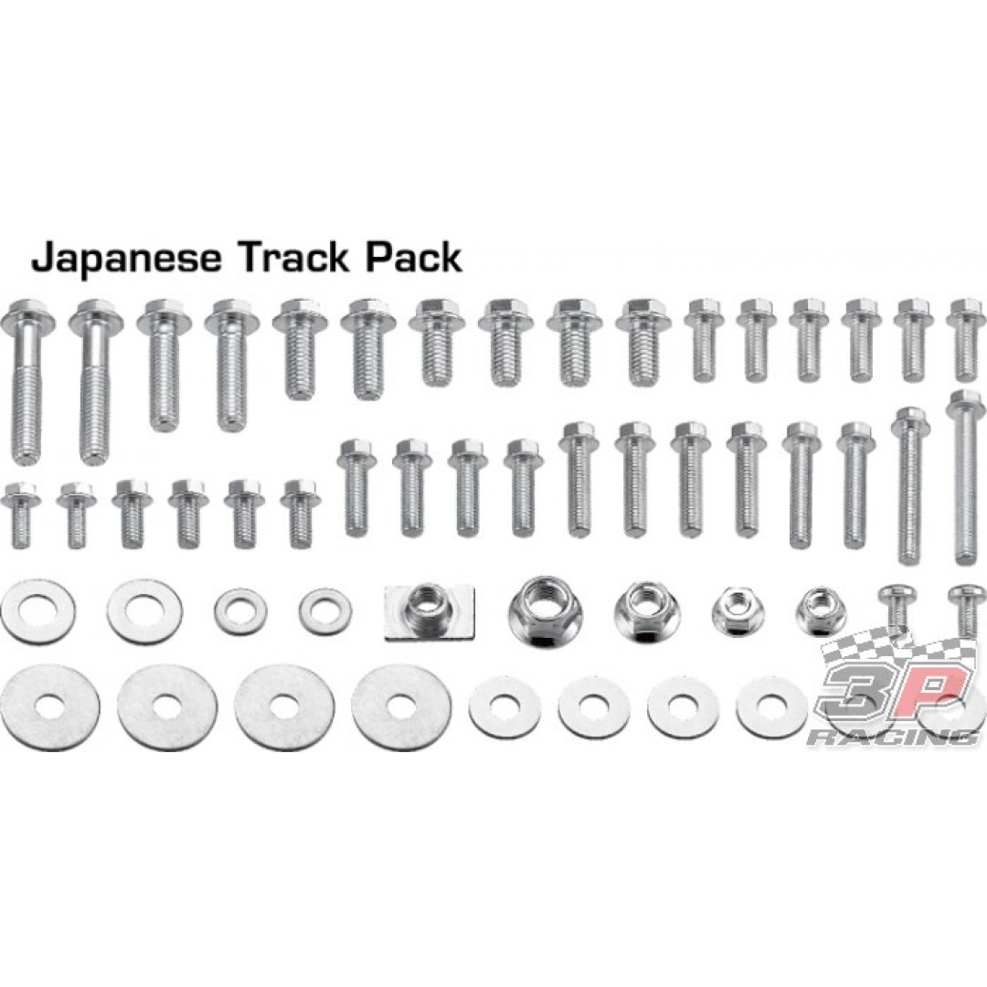 Accel Japanese style TRACK screw kit AC-BKT-01 Suzuki RM/RMZ, Yamaha YZ/YZF, Kawasaki KX/KXF