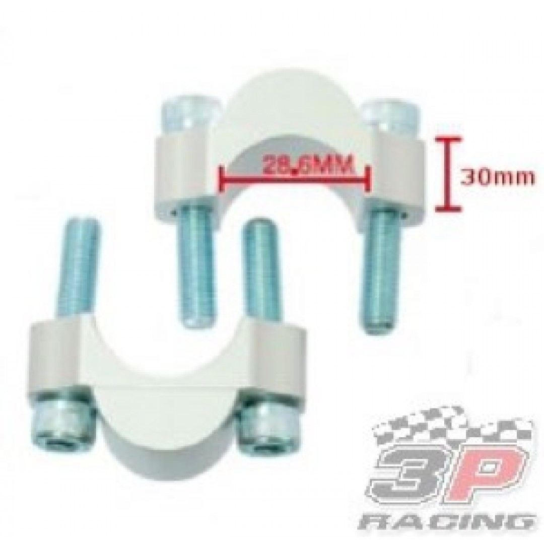 Accel Bar mount kit-Spacer 30mm height for 28.6mm bar Silver AC-BM-286C10 Universal
