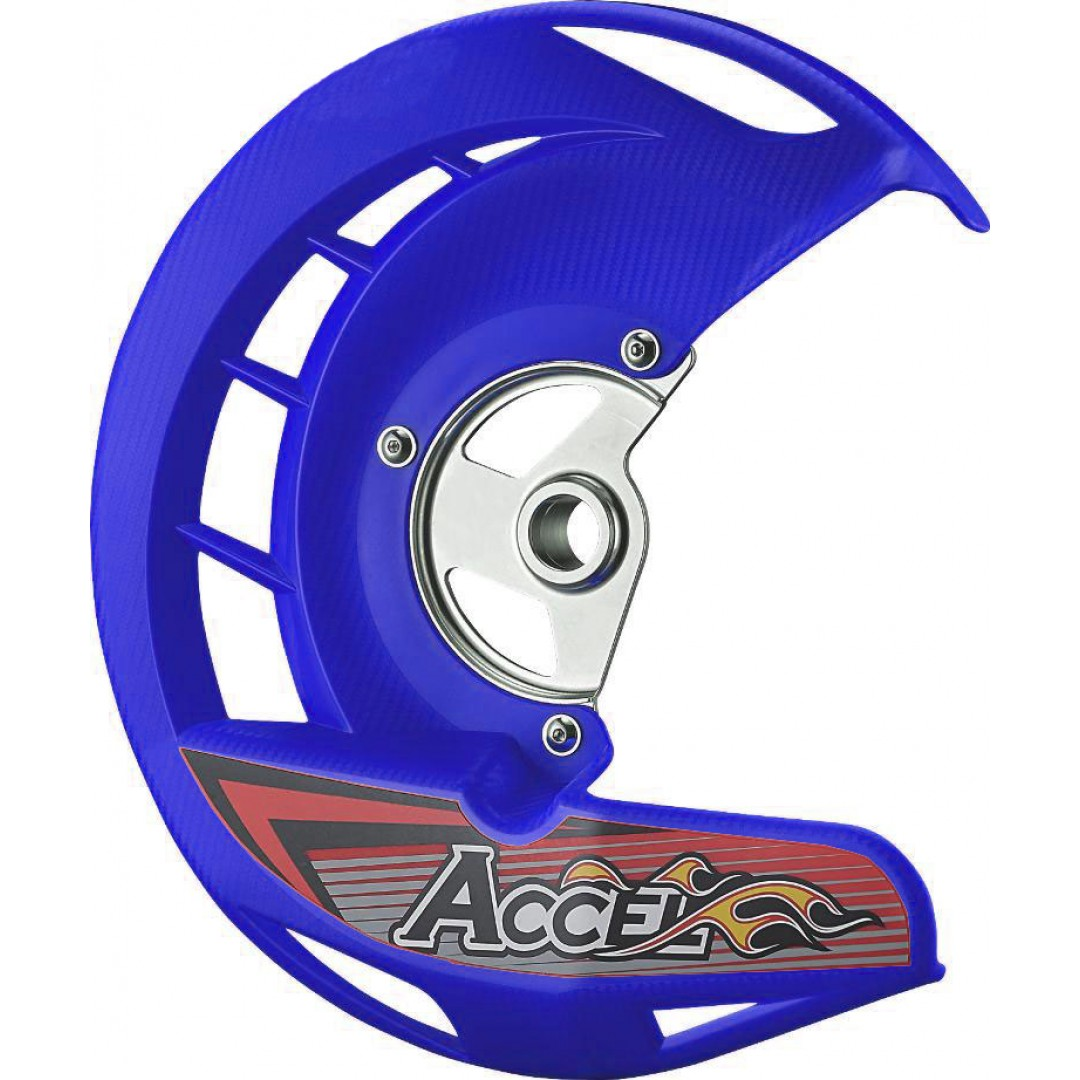 Accel front brake disc guard Blue AC-FDG-02-BLUE Yamaha YZ 125/250, WR 125/250, YZF 250/450, WRF 250/450