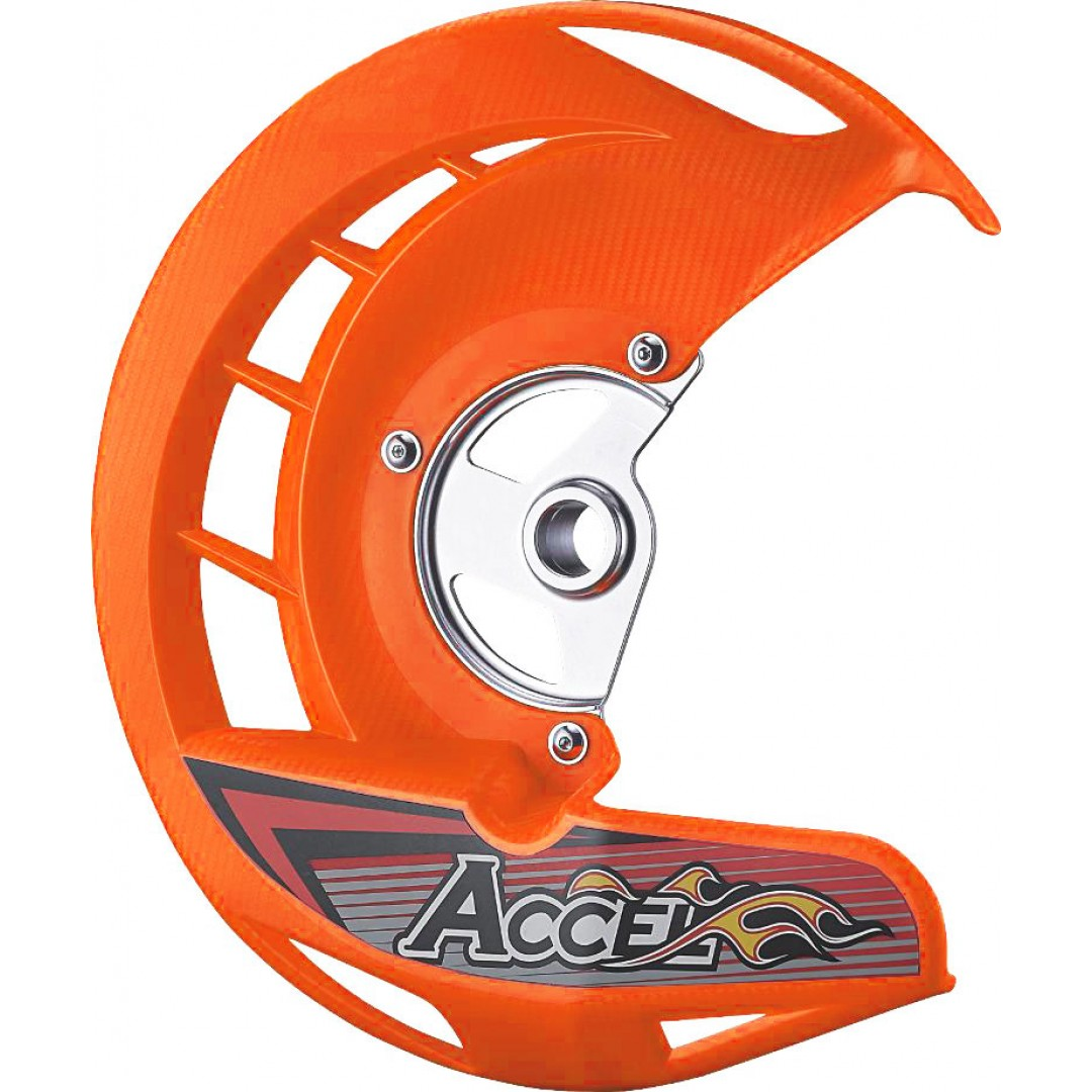 Accel front brake disc guard Orange AC-FDG-05-OR KTM SX/EXC,SX-F/EXC-F, Husqvarna TE/TC, FE/FC, Husaberg FE/FC, TE