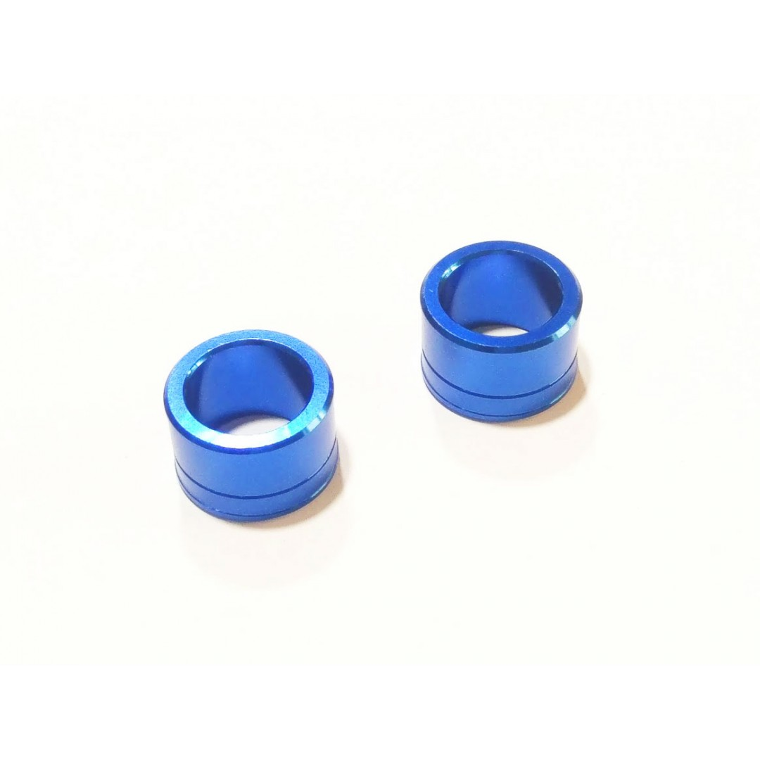 Accel CNC Blue frontwheel spacer kit for Yamaha 2014-2019 YZF250 YZ250F YZ 250F, YZF450 YZ450F YZ 450F, WR450F WRF450 WR 450F, YZ450FX YZF450X YZ250FX YZF250X. Yamaha OEM 1SL-25183-00-00 1SL-25186-00-00. Color anodized. P/N: AC-WSF-07-BL