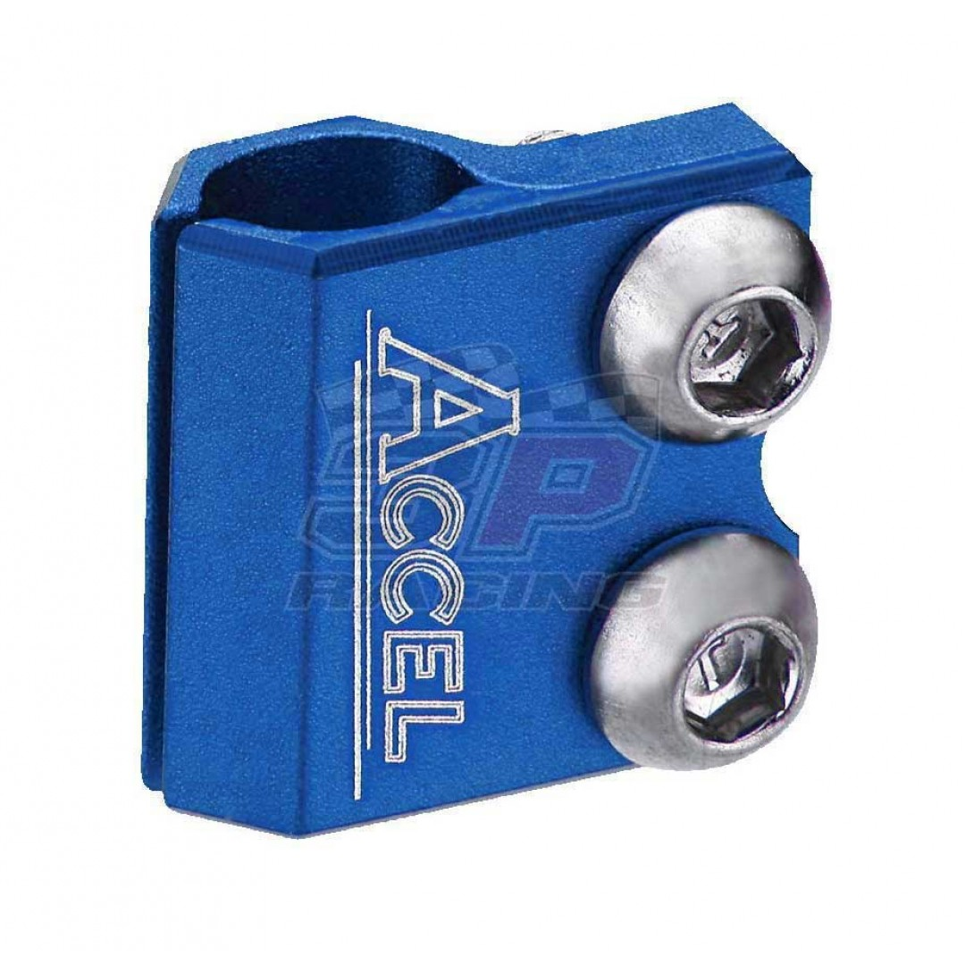 Accel brake line clamp AC-BLC-01-BLUE Honda CR 125/250, CRF 250/450 R/X/RX/L, Yamaha YZ 125/250, YZF 250/450, WRF 250/450, WR 250R/X