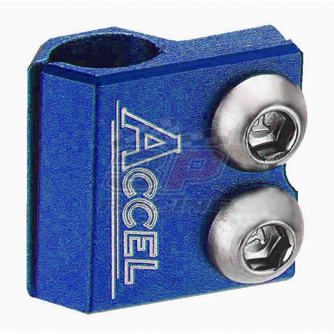Accel brake line clamp - Blue AC-BLC-03-BLUE Suzuki RM 80/85/125/250, RMZ 250/450, RMX 450, DRZ 400, Kawasaki KX 85/100/125/250/500, KXF 250/450, KLX 450R