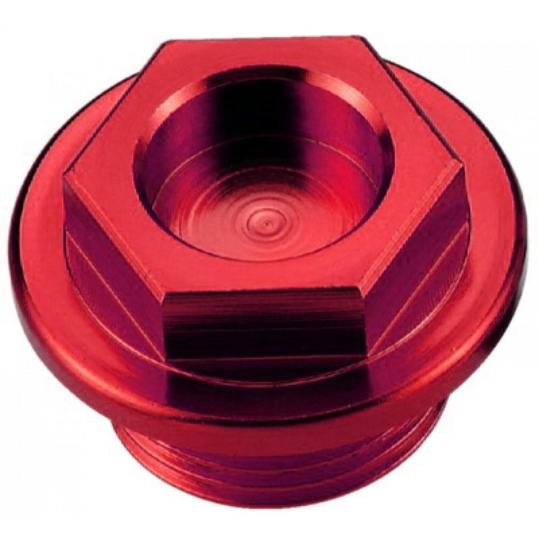 Accel oil fill plug Red AC-OFP-04-RD Kawasaki KX 250,KXF 250/450, KLX 450R, Suzuki RMZ 250