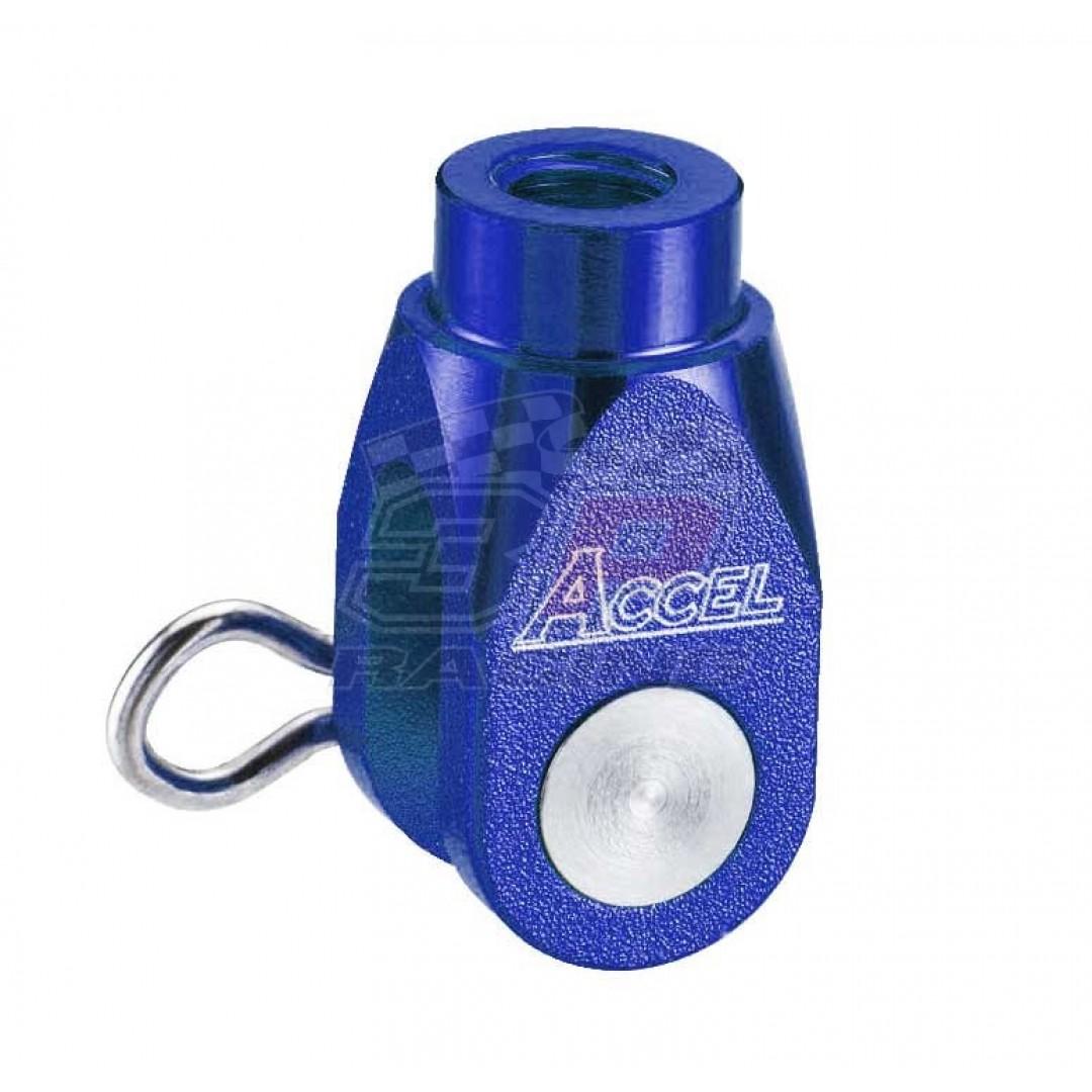 Accel brake clevis billet Blue AC-BBC-03-BLUE Kawasaki KX 65/80/85/100, KX 125/250, KXF 250, KXF 450, KLX 450R, Suzuki RMZ 250