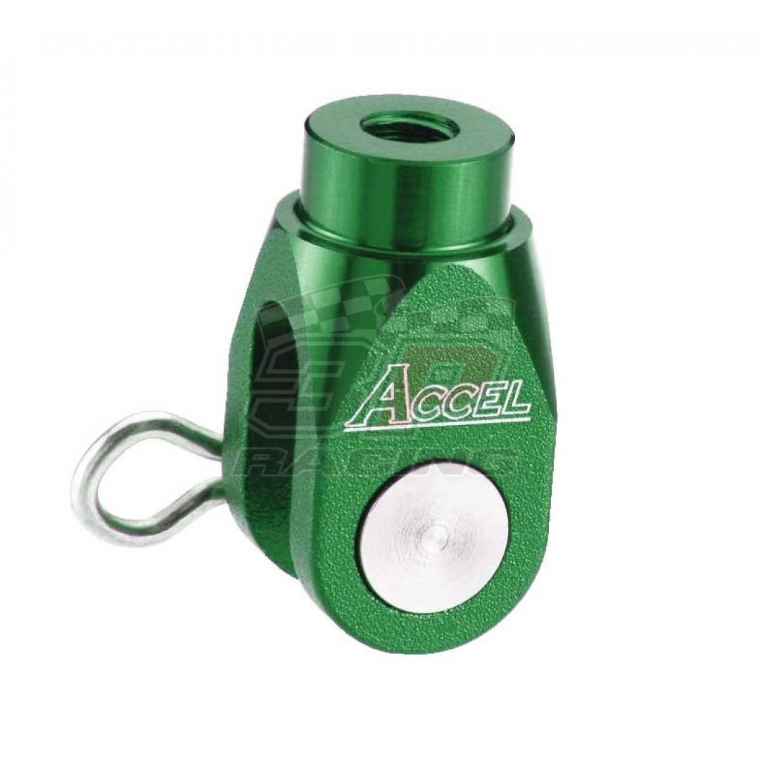 Accel brake clevis billet Green AC-BBC-02-GREEN Yamaha YZ 125/250, YZF 250/450, YZF 250X/450X, WRF 250/450, WR 250R/X, Suzuki RMZ 250, RMZ 450, RMX 450Z