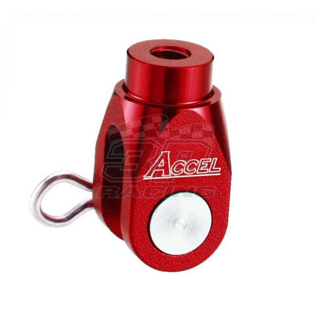 Accel brake clevis billet Red AC-BBC-02-RED Yamaha YZ 125250, YZF 250450, YZF 250X450X, WRF 250450, WR 250RX, Suzuki RMZ 250, RMZ 450, RMX 450Z