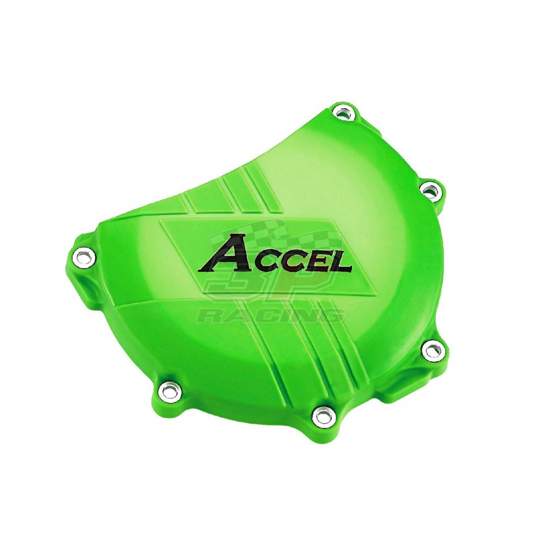 Accel clutch cover guard Green AC-CCP-302-GR Kawasaki KXF 450 2006-2015