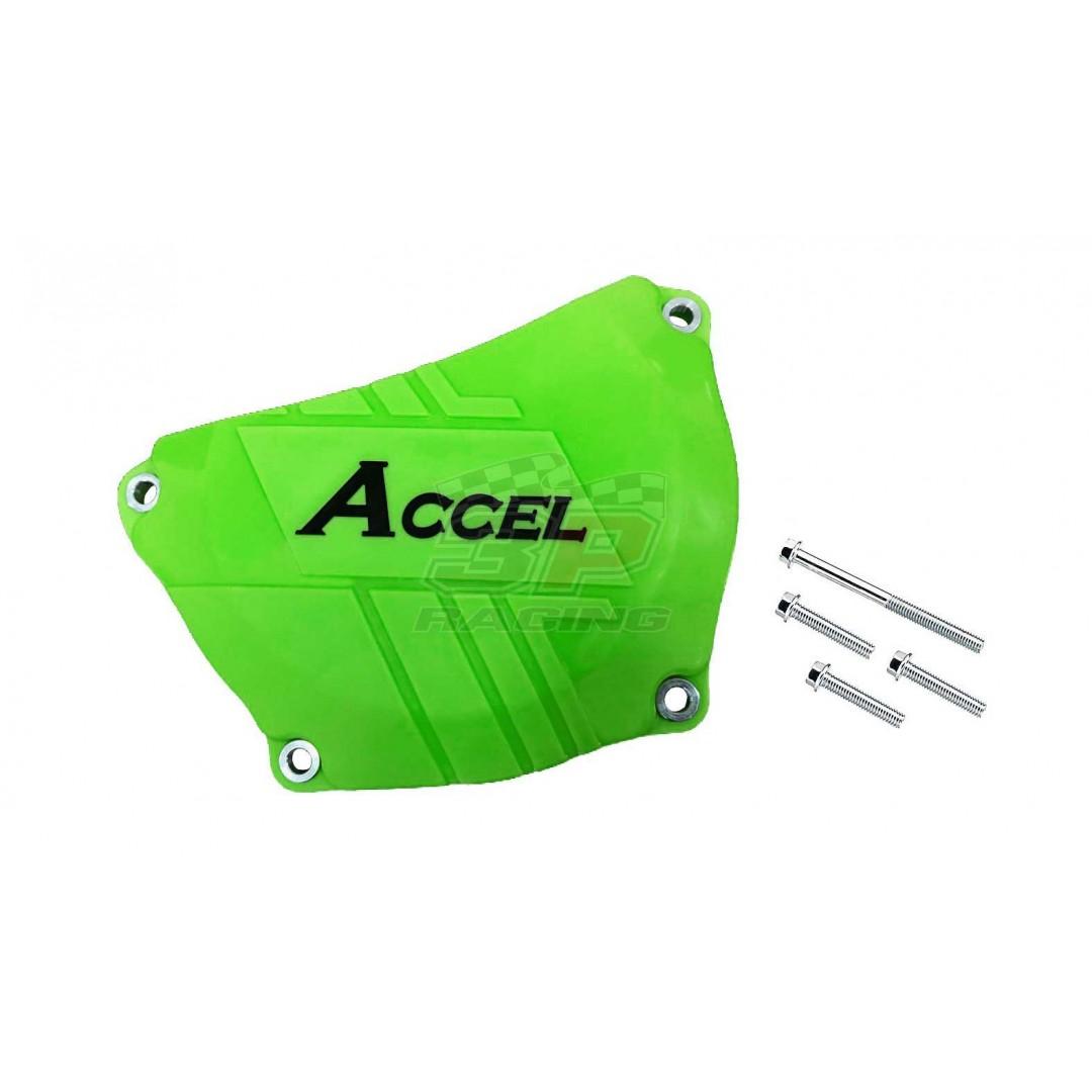 Accel clutch cover guard Green AC-CCP-304-GR Kawasaki KXF 250 2017-2019