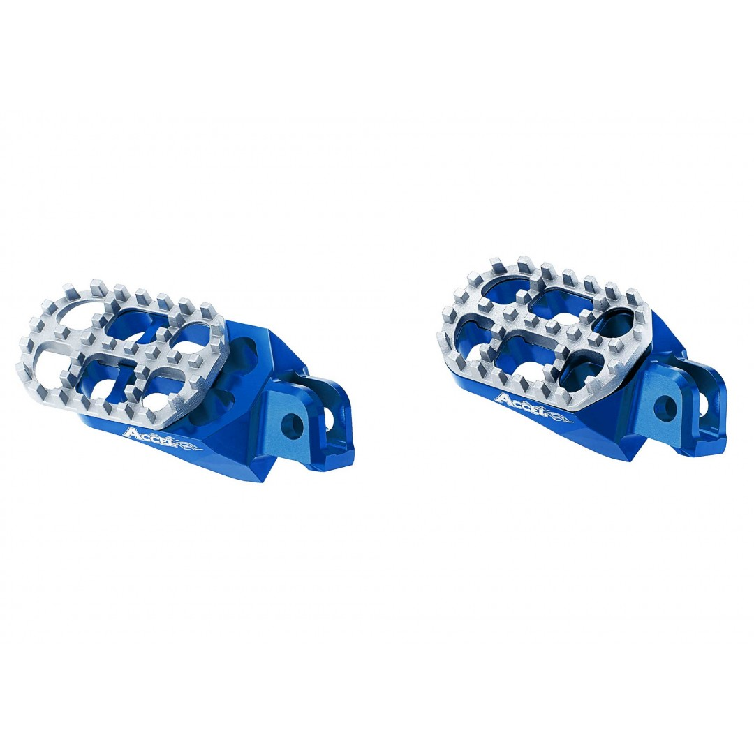 Accel adjustable footpegs AC-AFP-201-BL Yamaha YZ 125/250, YZF 250/450, WRF 250/450