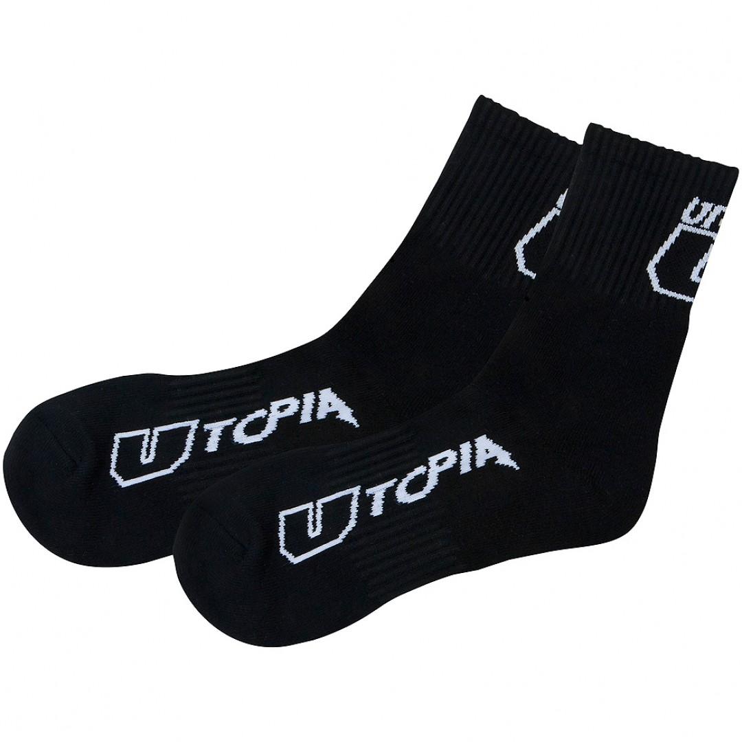 UTOPIA socks Crew Black 3-Pack UT-SK-BLK-002