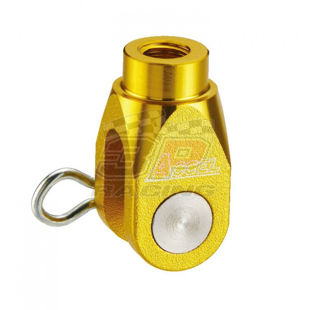 Accel brake clevis billet Gold AC-BBC-02-GD Suzuki RMZ 250, RMZ 450, RMX 450Z, Yamaha YZ 125/250, YZF 250/450, YZF 250X/450X, WRF 250/450, WR 250R/X