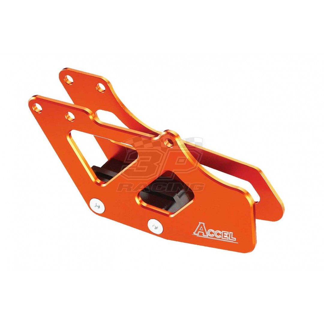 Accel Orange CNC chain guide retaining plate AC-CG-09-ORANGE KTM '94-07 SX EXC 85 105 125 200 250 300 360 380 400 450 520 525, SX-F EXC-F 250, SMR 450 560 for KTM SX85 SX105 SX125 SX200 SX250 SX300 SX360 SX380 SX400 SX450 SX520 SX525 EXC125 EXC200 EXC250