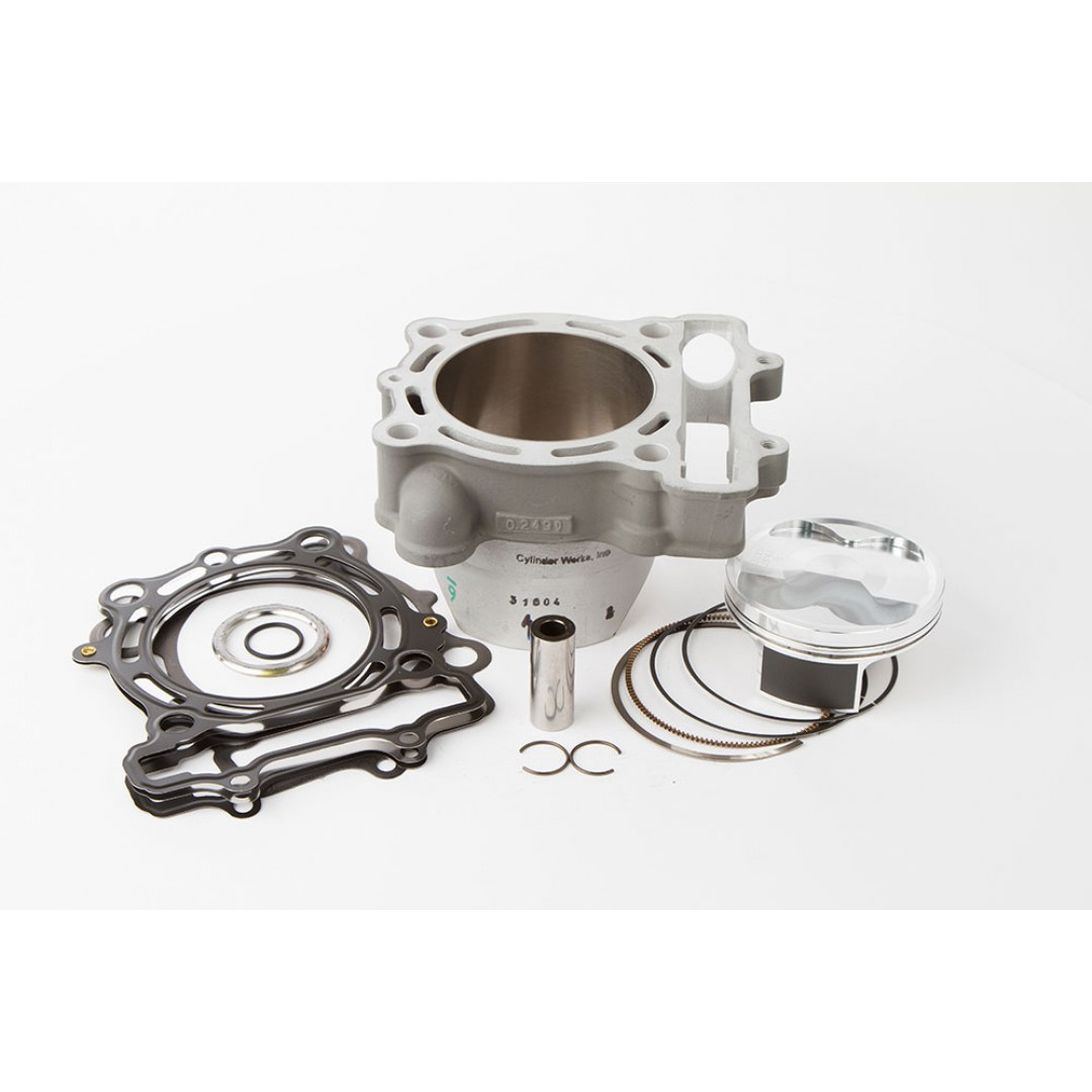 CylinderWorks 31004-K01 BigBore 269cc +3mm Nikasil cylinder kit with VerteX overbore piston and top end gasket set with 80.00mm diameter for Kawasaki KX250F KX 250F KXF250 2009. Replaces Kawasaki OEM cylinder 11005-0110