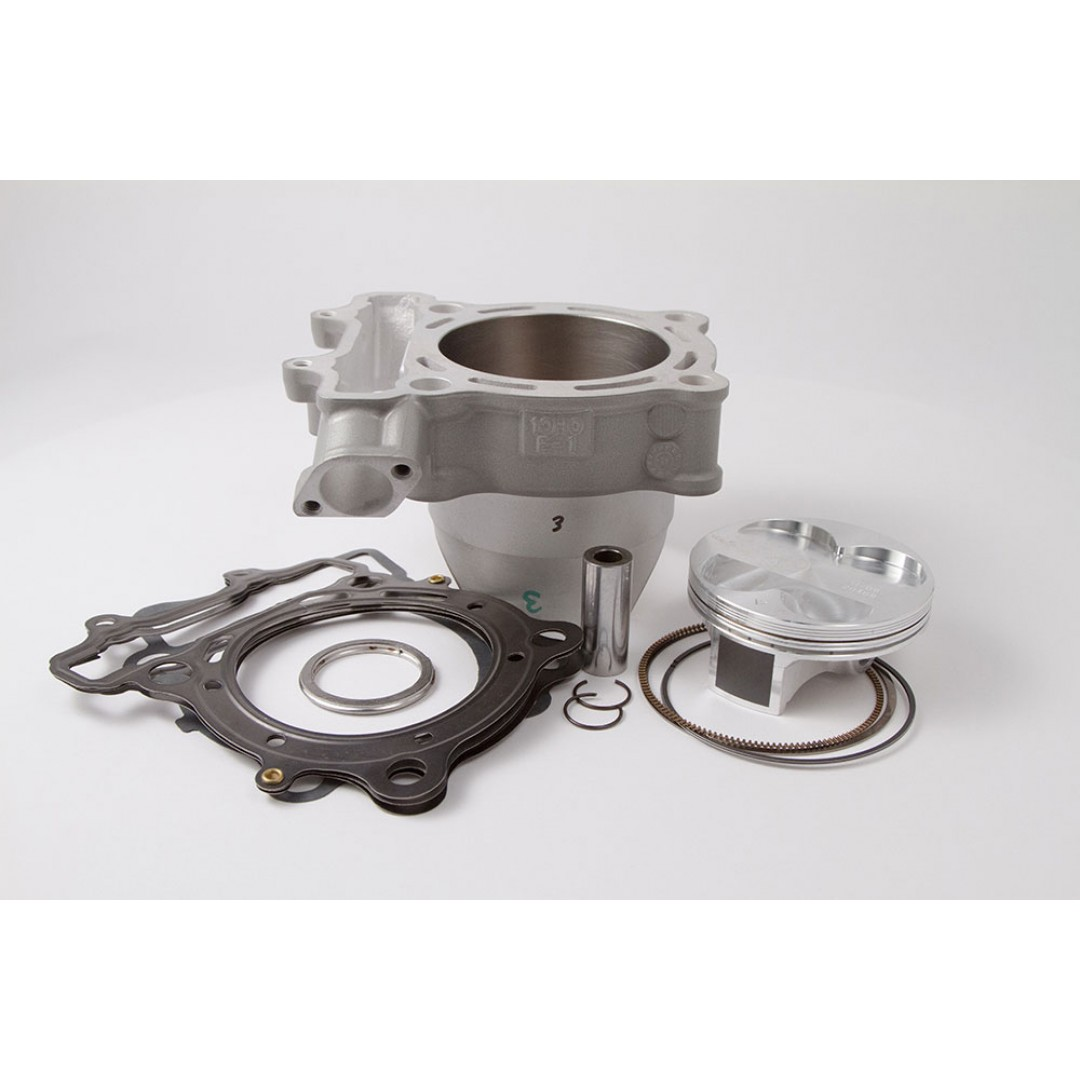 CylinderWorks 41003-K01 BigBore 269cc +3mm Nikasil cylinder kit with VerteX overbore piston 13.4:1 and top end gasket set with 80.00mm diameter for Suzuki RMZ250 RM-Z250 RM-Z 250 2007 2008 2009. Replaces Suzuki OEM cylinder 11211-10H00-0F0