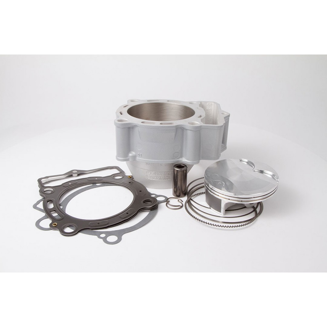 CylinderWorks 51001-K01 BigBore 365cc +2mm Nikasil cylinder kit with VerteX overbore piston 13.5:1 and top end gasket set with 90.00mm diameter for KTM SXF350 SX-F350 SXF 350 EXCF350 EXC-F350 EXCF 350 2011 2012 2013. OEM 77230138000, 77230138100, 77530038
