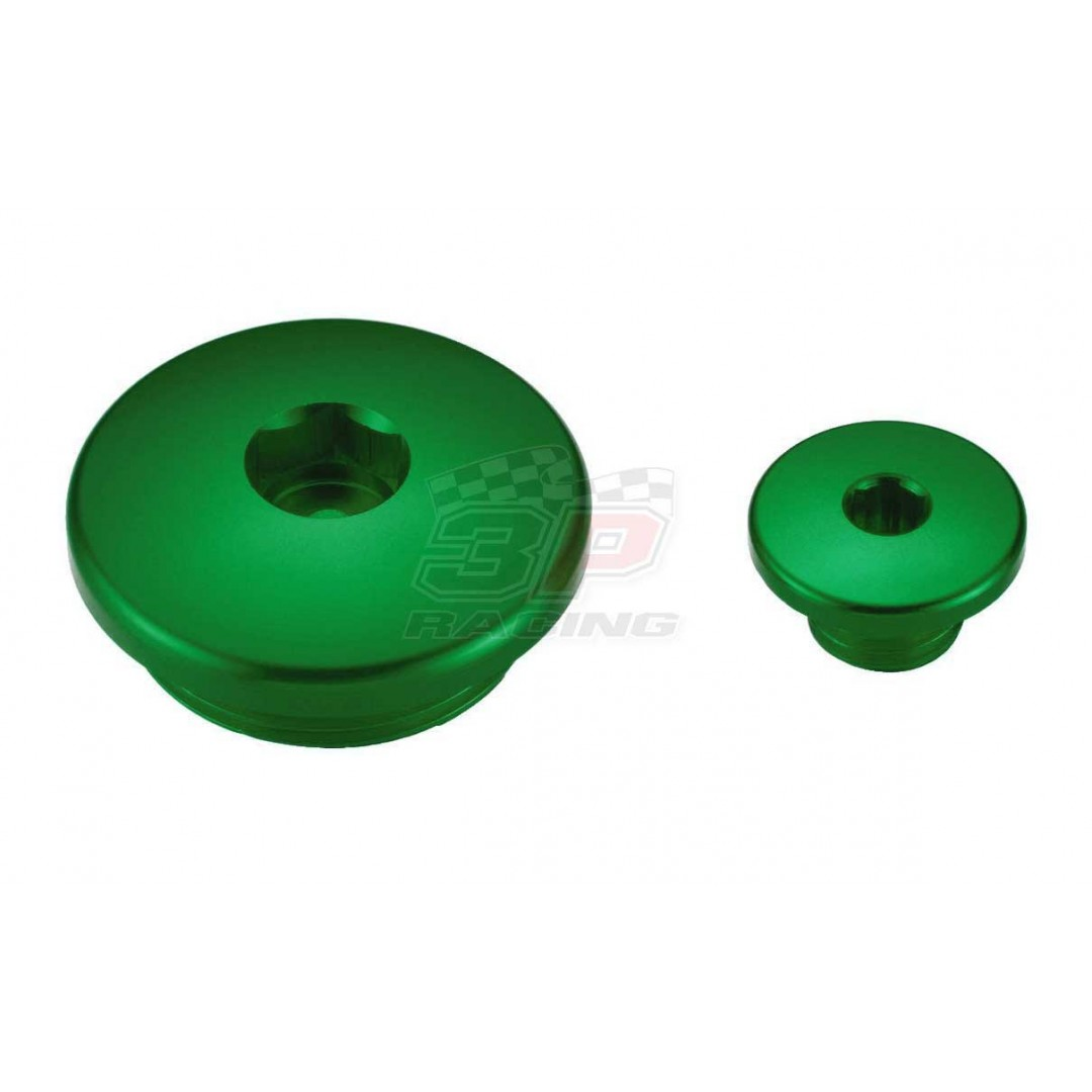 Accel engine plug kit Green AC-ENP-09-GREEN Kawasaki KXF 250 2011-2019, KXF 450 2009-2019, KLX 450R 2008-2019