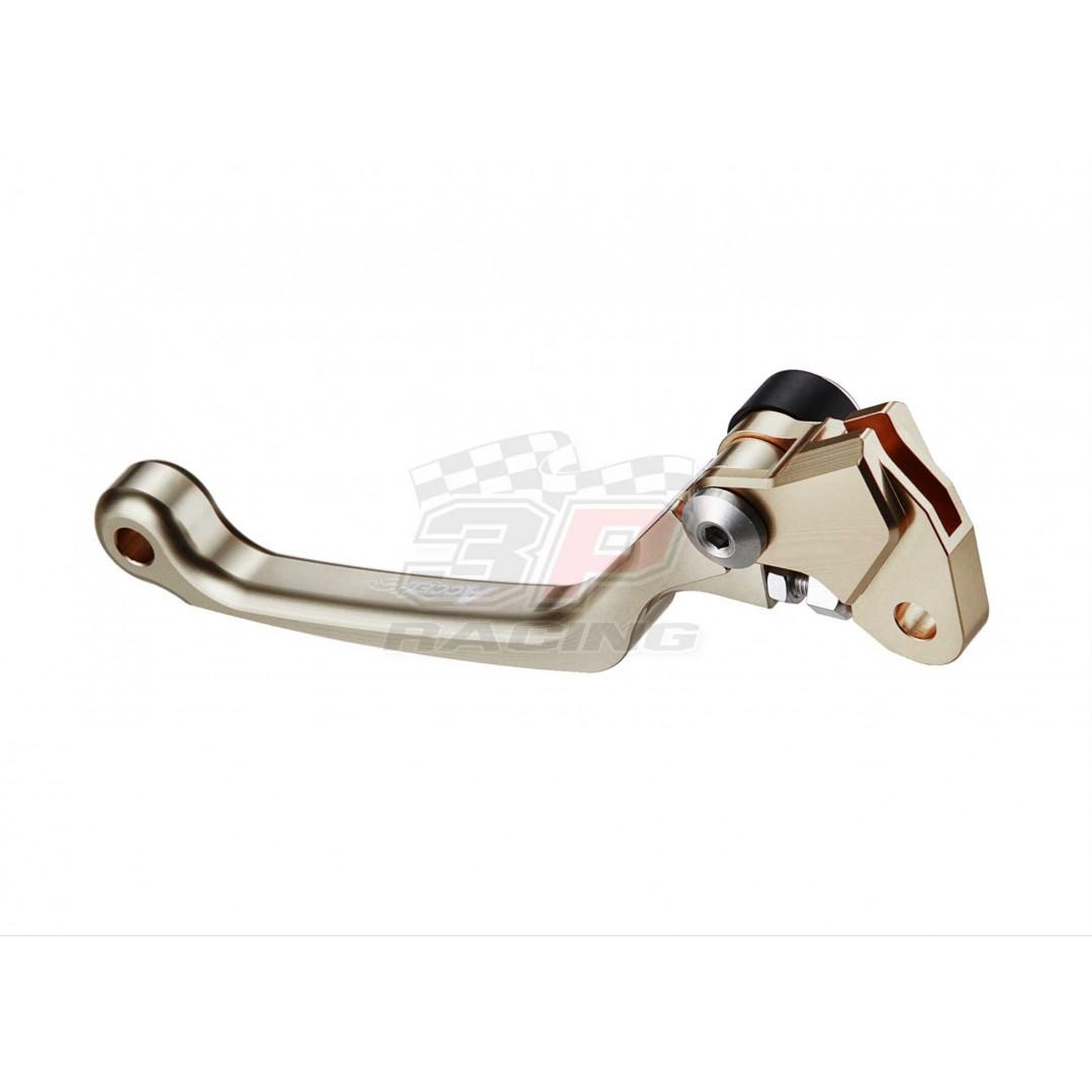Accel folding clutch lever Titanium color AC-FCL-09-3-TIT 46092-1165 Kawasaki KX 65 80 85 100 125 250 500, KXF 250, 57621-35G10 Suzuki RMZ 250, RMZ 450