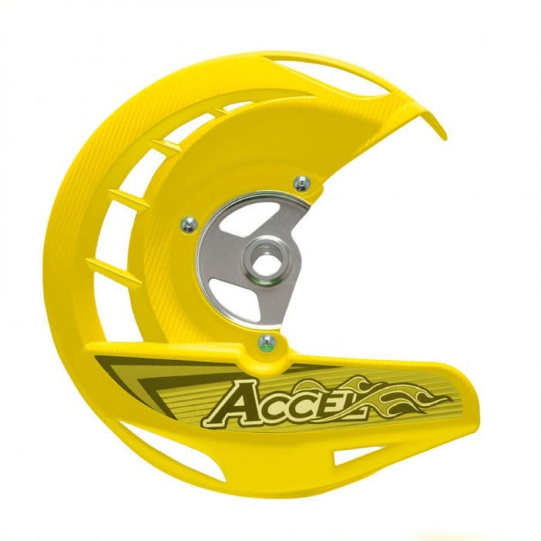 Accel front brake disc guard Yellow AC-FDG-04-YL Suzuki RMZ 250/450, RMX 450Z