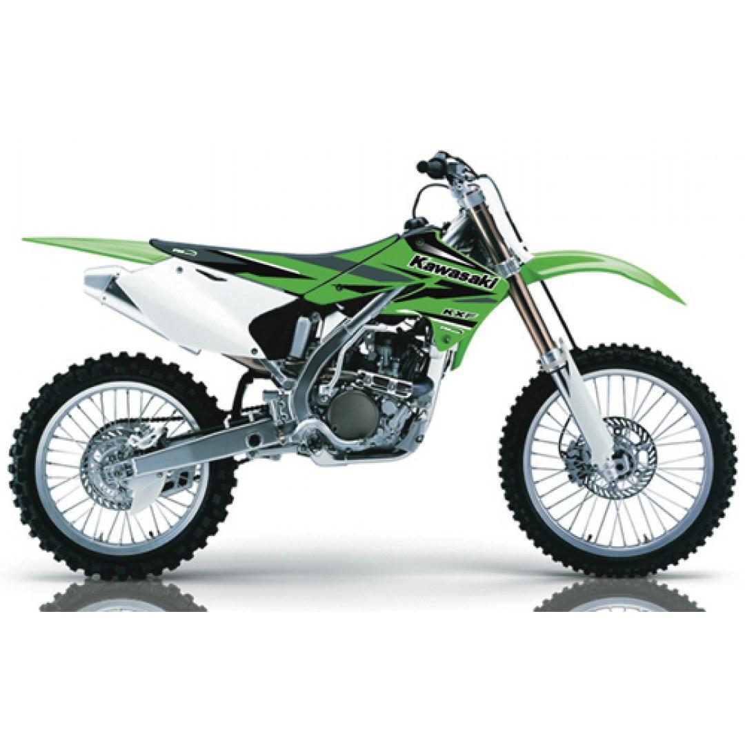 FM Racing radiator & swingarm decals KCS/1/04/KXF Kawasaki KXF 250 2004-2005