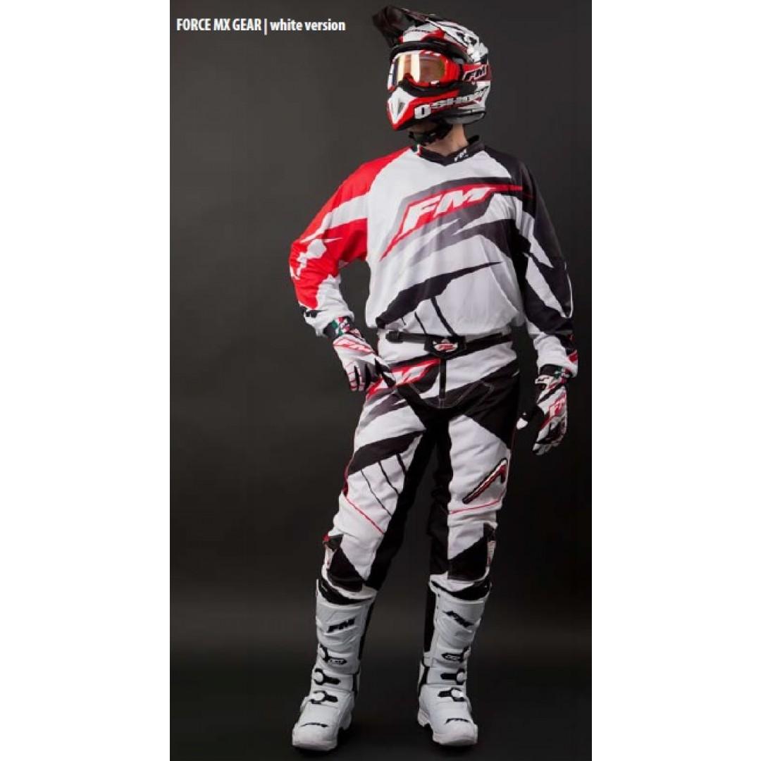FM Racing MX pants Force x22 White PA/007/22