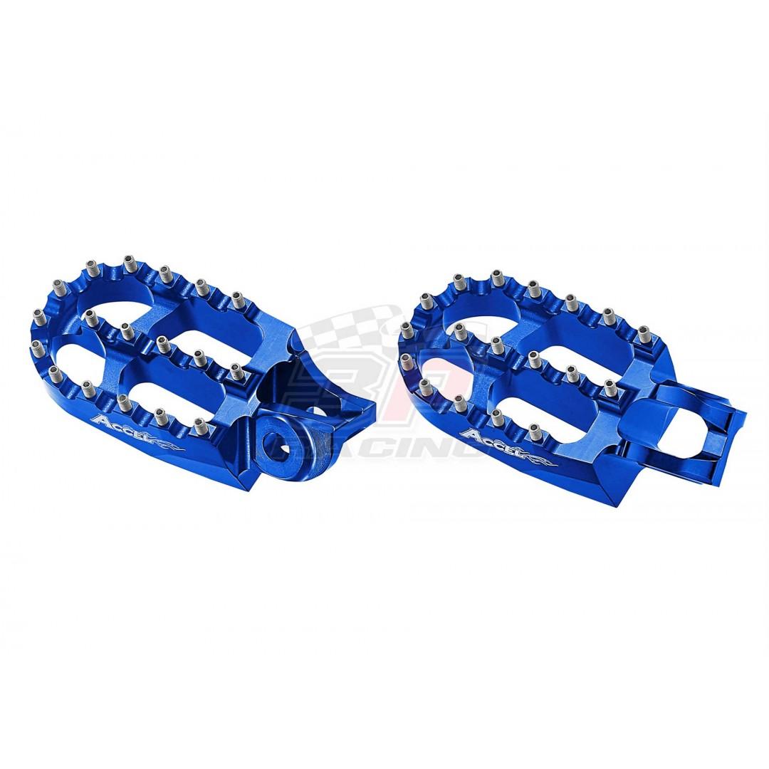 Accel CNC footpegs Blue AC-FP-19-BL OEM 79603040133 79603040033 79603040000 79603040100 Husqvarna 2017-2020 TE 150, TE 250, TE 300, FE 250, FE 350, FE 450, FE 501, TX 125, FS 450, Fits KTM EXC EXC-F 2017-2020