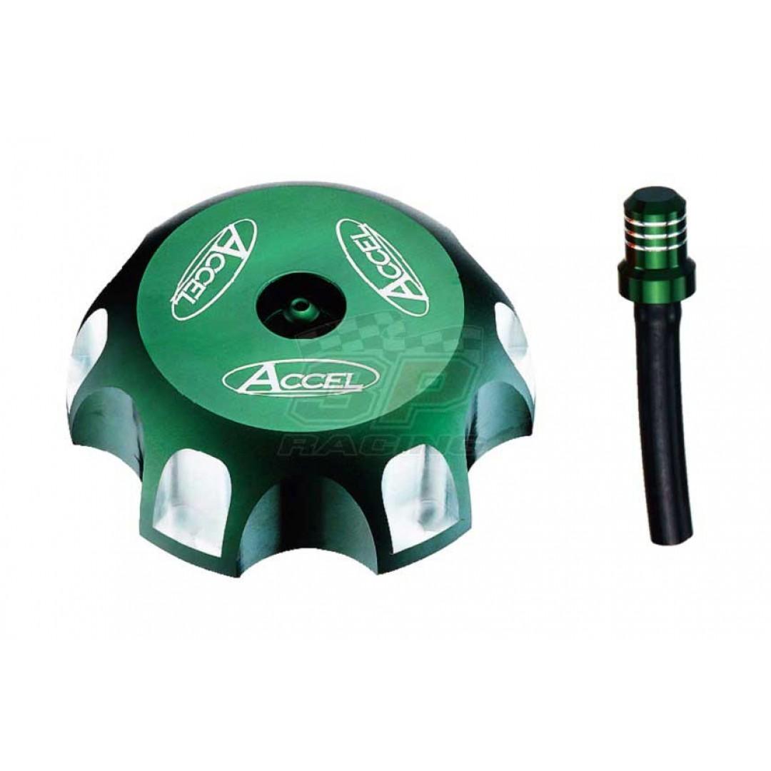 Accel gas tank cap Green AC-GTC-04-GR Kawasaki KX 85 100 250, KXF 250 450, KLX 110 140 450R, Suzuki RMZ 250 450, Yamaha YZ 85 125 250 250X, YZF 250 450