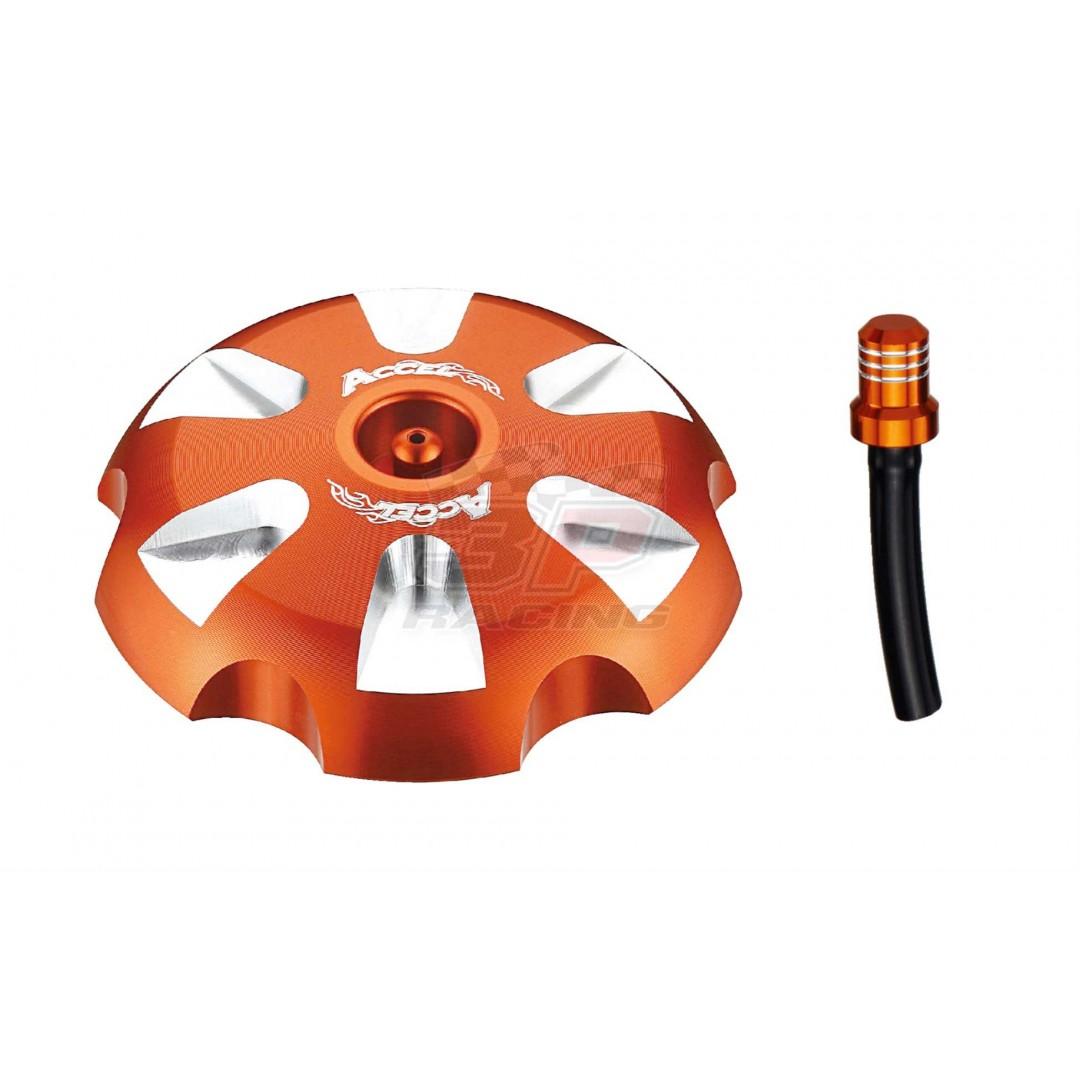 Accel gas tank cap Orange AC-GTC-13-OR KTM SX 85, SX 125, SX 150, SX 250, SXF 250, SXF 350, SXF 450, Husqvarna TC 85 125 250, FC 250 350 450