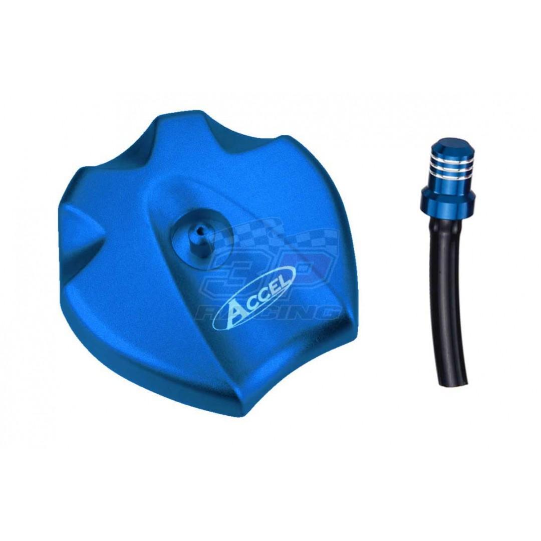 Accel gas tank cap Blue AC-GTC-09-BL Husqvarna 7810700804455 TC 50 65, TE 125 150 250 300, FE 250 350 450 501, Husaberg 7800700804455 TE, FE 390 450 501 570