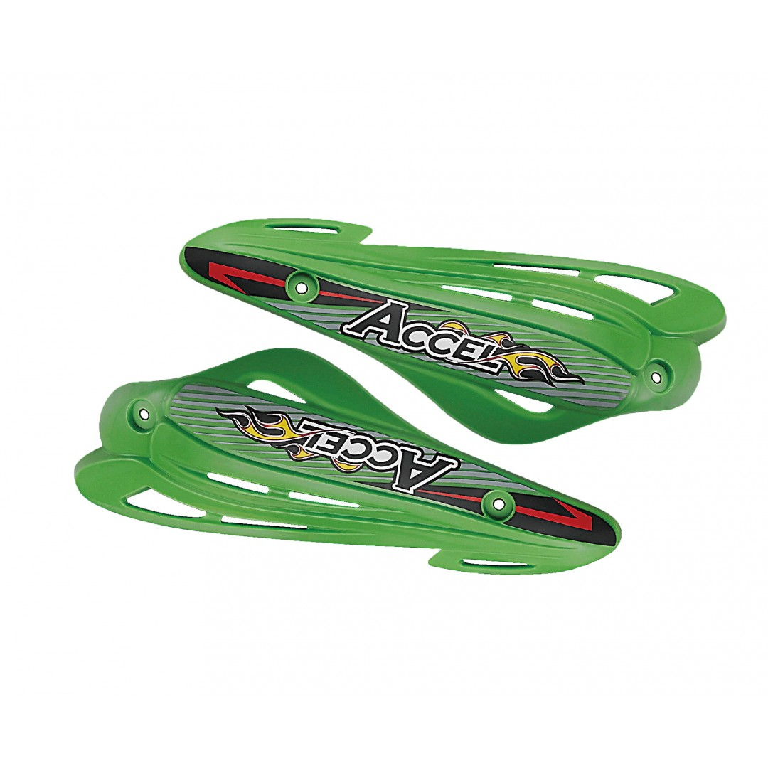Accel enduro plastic shields / handguards - Green AC-SD-10-GR