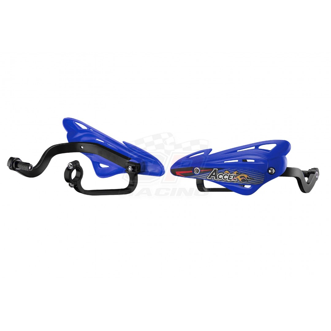 Accel Universal Handguards alloy & shields Blue AC-HGS-10-BL For 22.2mm, 28.6mm and 31.8mm bars