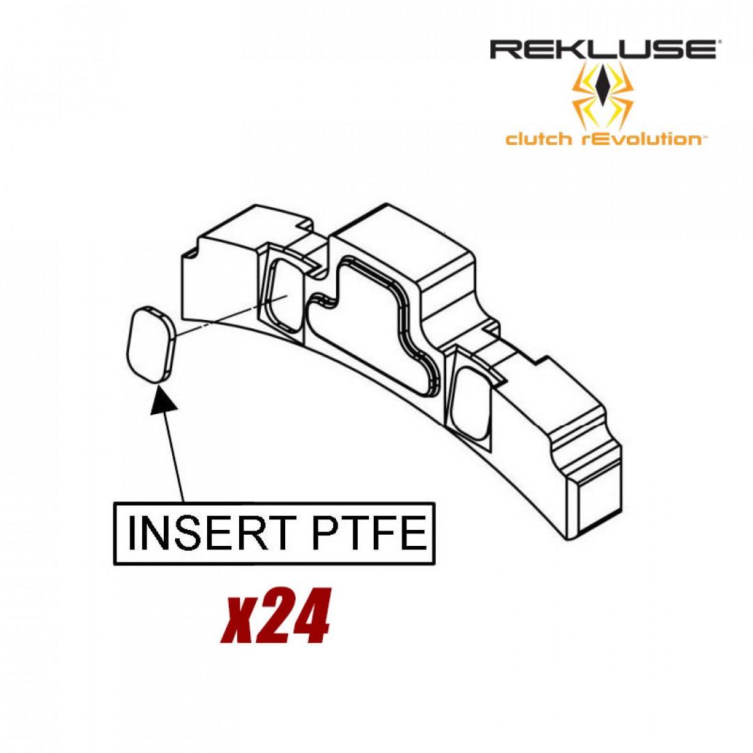 Rekluse teflon pads replacement set for EXP wedges 782-002 Fits EXP auto clutch systems