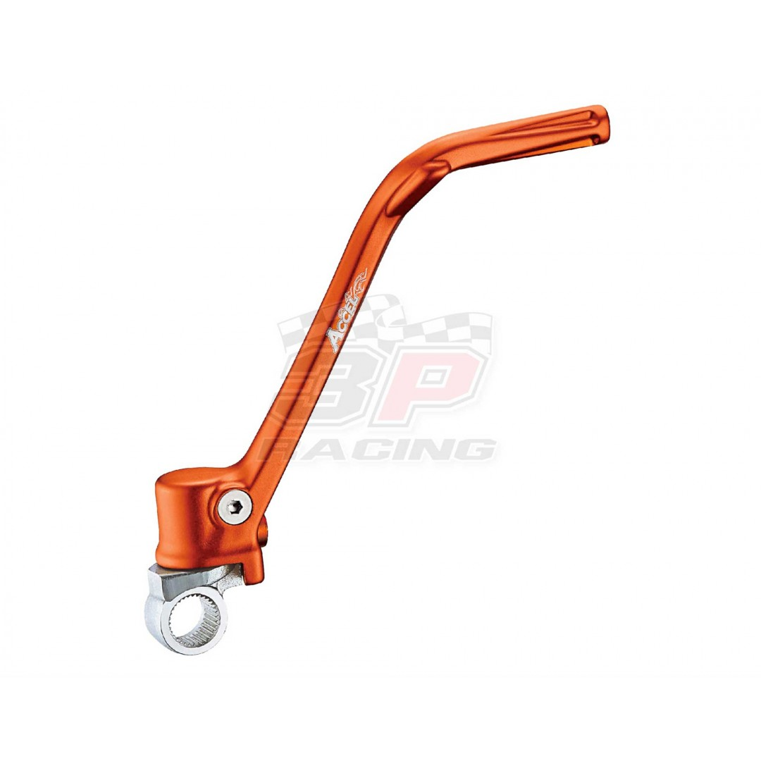 Accel high quality Forged Orange kick start crank lever AC-KST-502-OR for KTM SX125 SX150 2012-2015, EXC125 EXC200 2012-2016, Husaberg Husqvarna TE125 2012 2013 2014 2015 2016, TC125 2014 2015. Kickstarter crank replacement of KTM OEM part 50333070244.