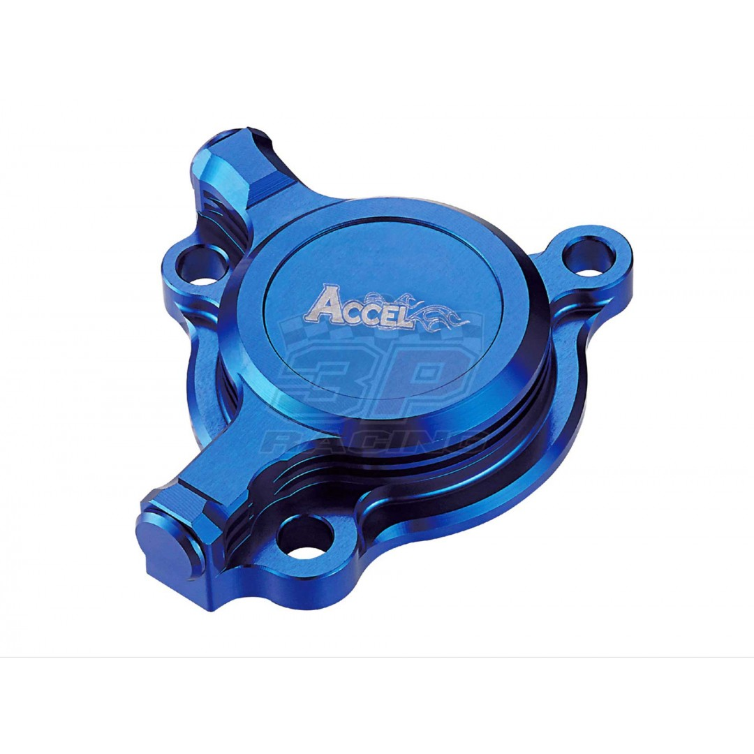 Accel CNC Blue oil filter cover Yamaha OEM 5BE-13447-10, 5BE-13447-20, 5BE-13447-30 fits YZF250 YZ250F YZ 250F WRF250 WR250F WR 250F 2003-2013, YZF450 YZ450F YZ 450F 2003-2009, WRF450 WR450F WR 450F 2003-2015, ATV YFZ450 YFZ450R YFZ450X 2004-2019, AC-OFC-