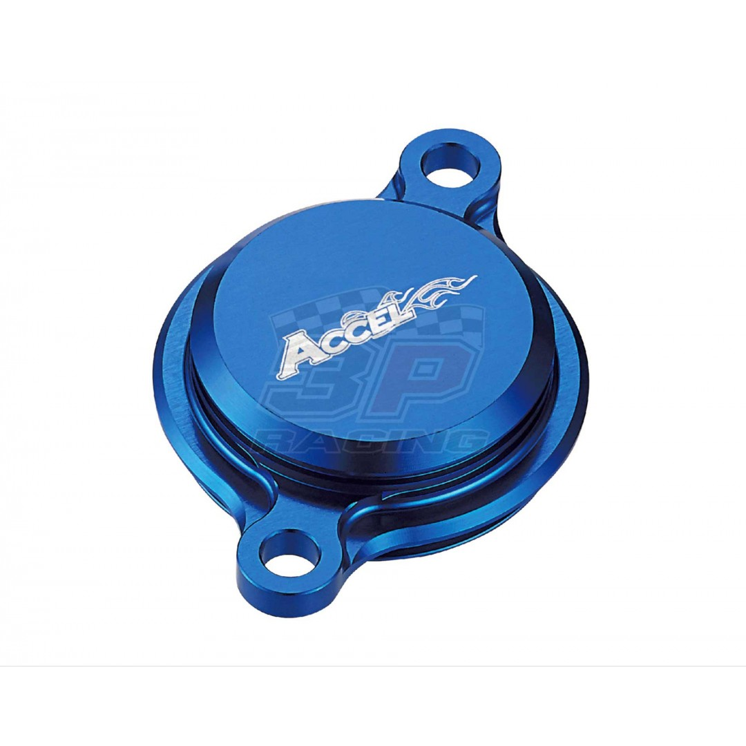 Accel CNC Blue oil filter cover Yamaha OEM 1SL-13447-00-00, 33D-13447-00-00 for YZF250 YZ250F YZ 250F YZF250X YZ250FX YZ 250FX, YZF450 YZ450F YZ 450F YZF450X YZ450FX YZ 450FX,WRF250 WR250F WR 250F,WRF450 WR450F WR 450F 2015-2019, AC-OFC-202-BL Yamaha YZF