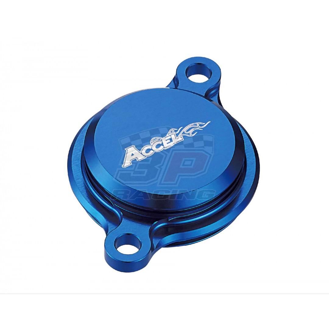 Accel CNC Blue oil filter cover Yamaha OEM 1SL-13447-00-00, 33D-13447-00-00 for YZF250 YZ250F YZ 250F YZF250X YZ250FX YZ 250FX, YZF450 YZ450F YZ 450F YZF450X YZ450FX YZ 450FX,WRF250 WR250F WR 250F,WRF450 WR450F WR 450F 2015-2019, AC-OFC-202-BL Yamaha YZF