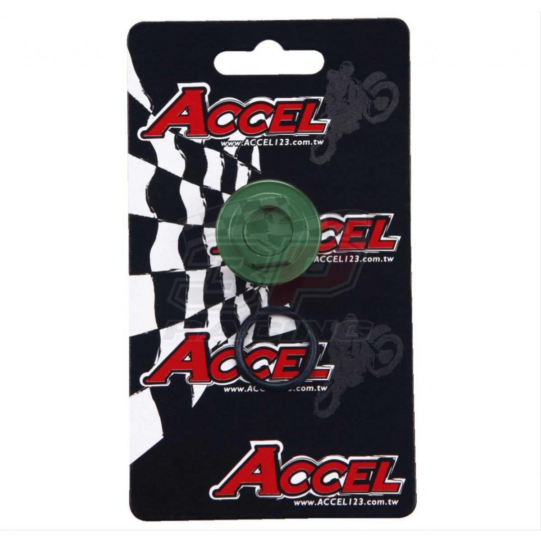 Accel CNC Green oil fill plug AC-OFP-04-GR Kawasaki KX 250, KXF 250, KXF 450, KLX 450R, Suzuki RMZ 250 for Kawasaki KX250,KXF250 KX250F KX450F KXF450, KLX450 KLX450R, Suzuki RM-Z250 RMZ250. Replaces Kawasaki OEM parts: 92066-0011, 92066-0833, 92066-0757,