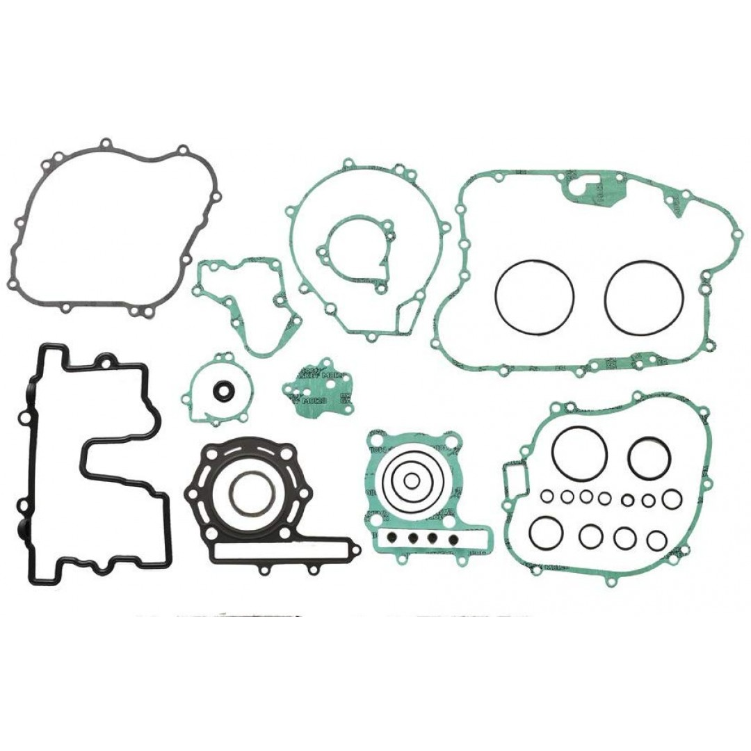 Athena full gasket kit for Kawasaki KL250 Supersherpa 1985-2003, KLR250 1985-1996,ATV Kawasaki KSF250 Mojave 1987-2004. P/N : P400250850253. Kits includes all necessary gaskets, O-rings and valve seals to rebuild the entire engine and transmission.