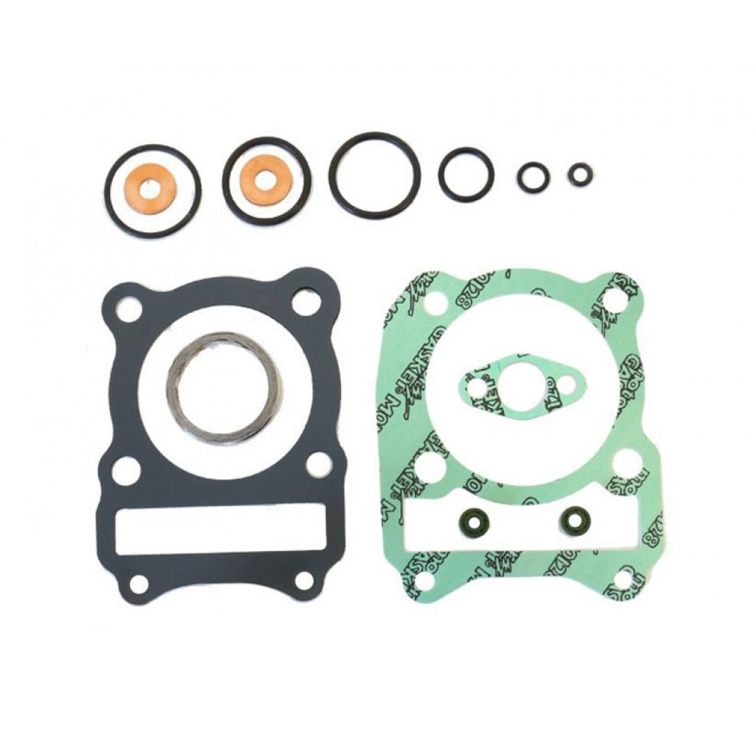 Athena P400510600231 cylinder head gaskets kit for Suzuki DR200 1985 1986 1987 1988,SP200 1986, LT230F LT230S LT230F LT230SF 1985-1993. Set includes all necessary gaskets, rubber parts for a complete top end rebuild.