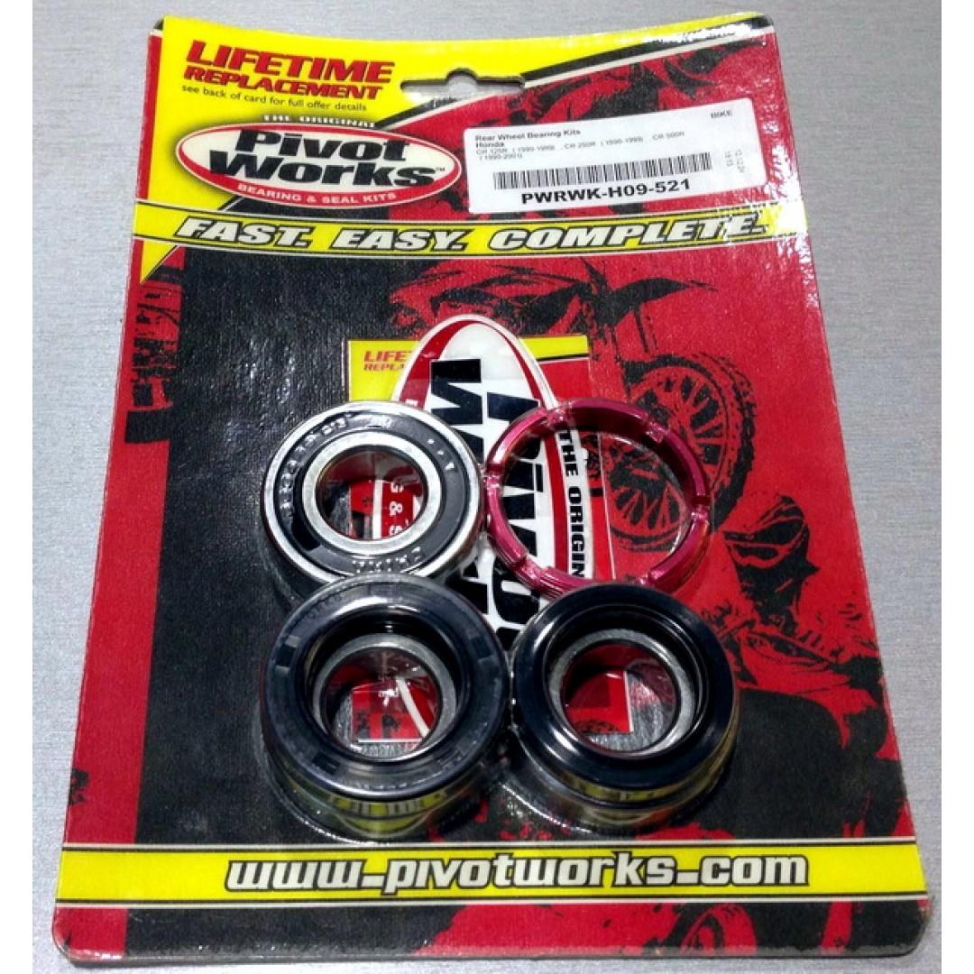 Pivot Works rear wheel rebuild kit PWRWK-H09-521 Honda CR 125 1990-1999, CR 250 1990-1999, CR 500 1990-2001