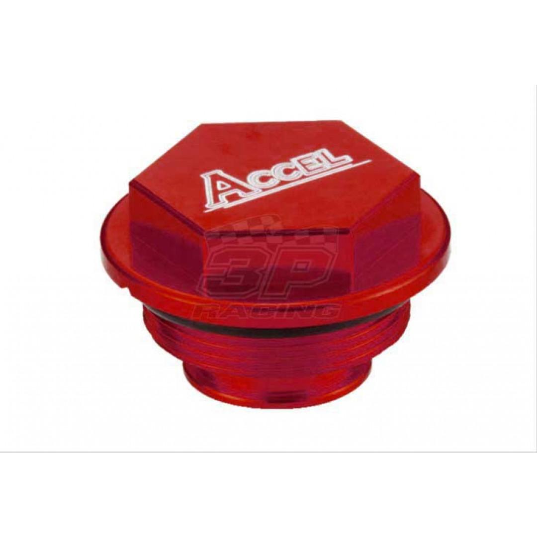 Accel CNC Red Rear brake reservoir cover Husaberg Husqvarna OEM 54813062100 for TE125 TE150 TE250 TE300 TC125 TC250 TX125 TX300 FE250 FE350 FE390 FE450 FE501 FE570 FS570 FX450 FC250 FC350 FC450 FX350 FX450. Fits Cylinder 77013060044. Will fit KTM models