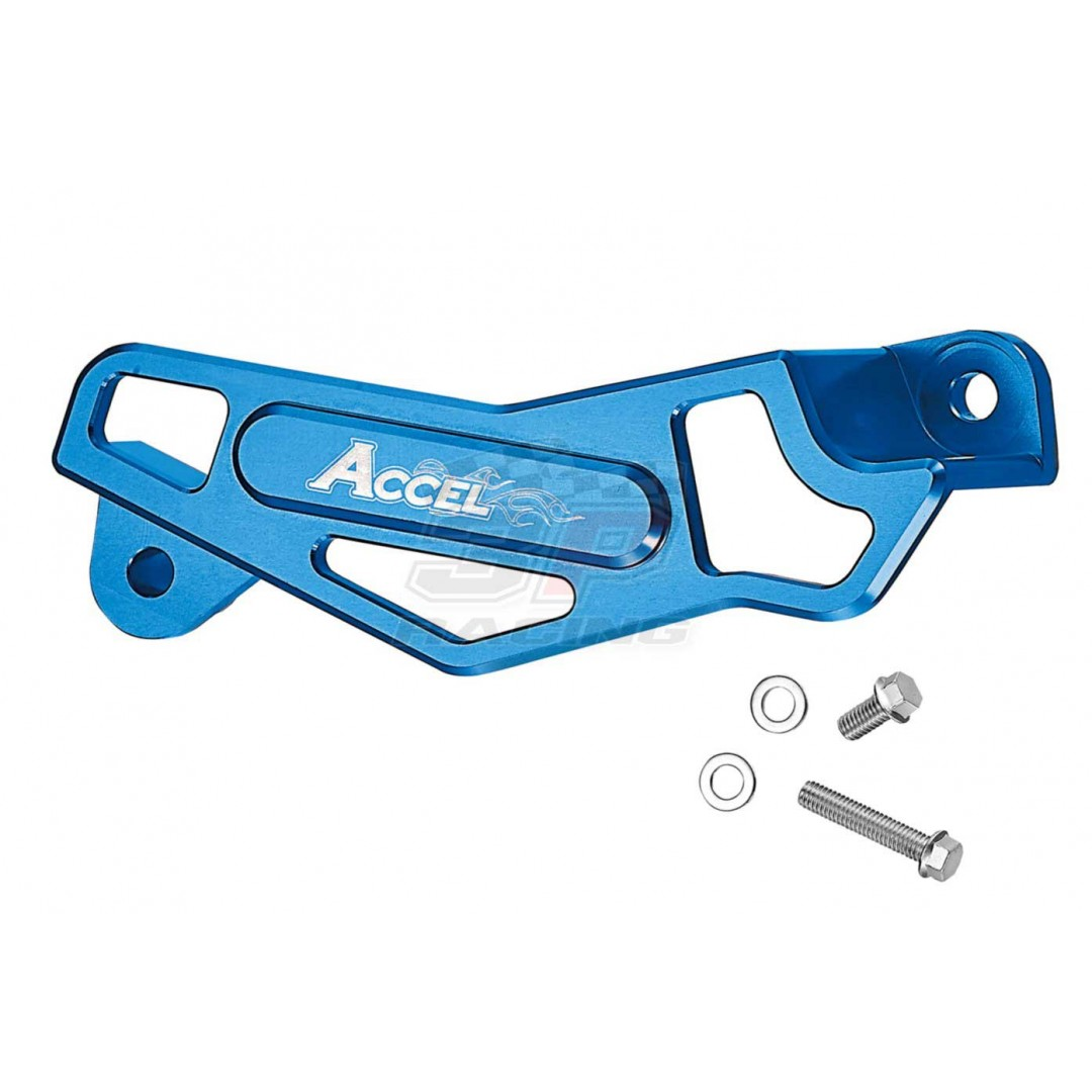 Accel CNC Blue rear brake caliper protector Yamaha OEM 17D-27491-50-00, 1C3-27491-50-00 fits YZ125 YZ250 YZ250X YZ 250F YZ250F YZF250 YZ250FX YZF250X YZ 450F YZ450F YZF450 YZ450FX YZF450X, WR250F WRF250 WR 250F, WR450F WRF450, WR250R WR250X, Yamaha 2006-2