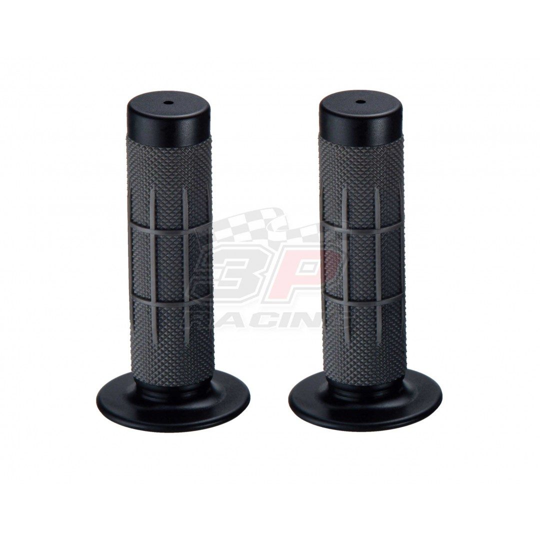 Accel soft compound rubber grips - Black. P/N: AC-RGP-407M-125