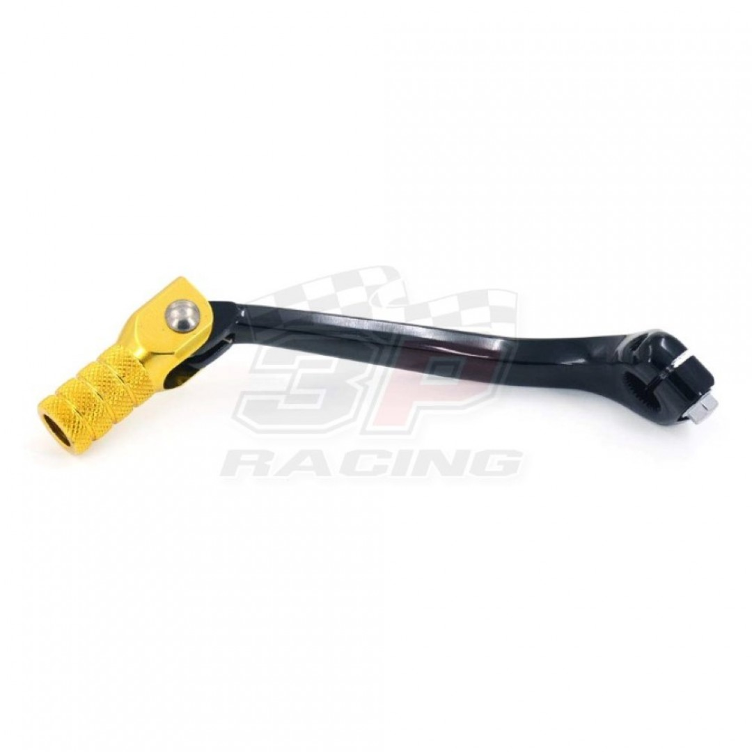 Accel CNC Black / Gold gear shifter change lever for Suzuki RM-Z250 RMZ250 2007 2008 2009 2010 2011 2012 2013 2014 2015 2016 2017 2018 2019. Forged with genuine billet aluminium. P/N: AC-SCL-7307. Replaces Suzuki OEM parts: 25600-10H10 25600-10H21