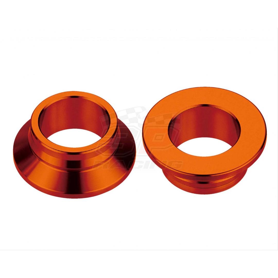 Accel CNC Orange rearwheel spacer kit 25mm diameter AC-WSR-08-OR for KTM SX125 SX150 SX250 SX-F250 SXF250 SX-F350 SXF350 SX-F450 SXF450 SM-R450 SMR450, Husqvarna TC125 TC250 FC250 FC350 FC450 FX350 FX450 FS450 TX300. KTM OEM 77710016000.