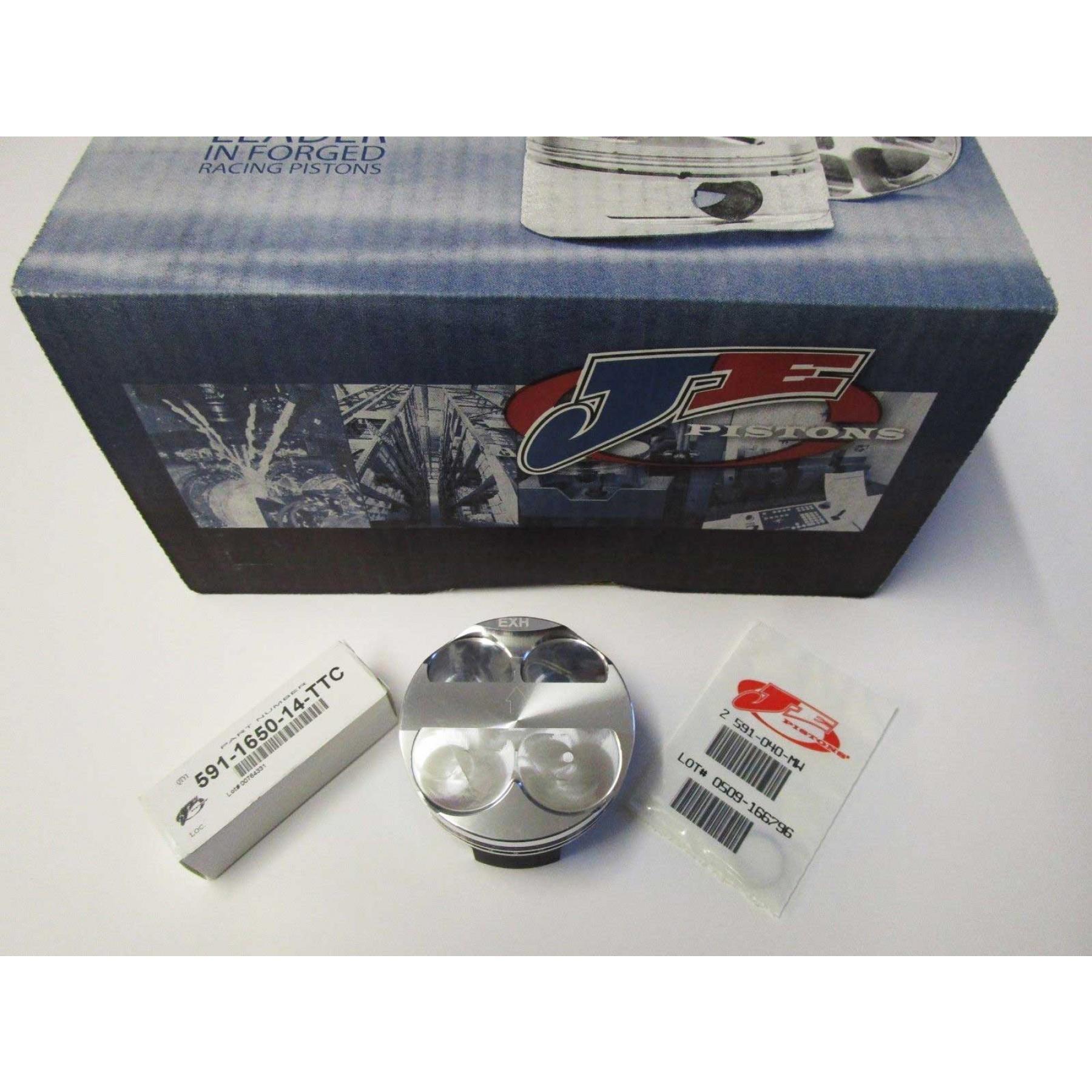 JE HC Racing forged piston kit for Suzuki GSXR1000 GSX-R1000 GSX-R 1000 K5 K6 K7 K8 2005-2008. Diameter : 73.40mm (Standard). High Compression Ratio : 13.8:1. Piston kit includes: Piston pin and Circlips. P/N: 247628S
